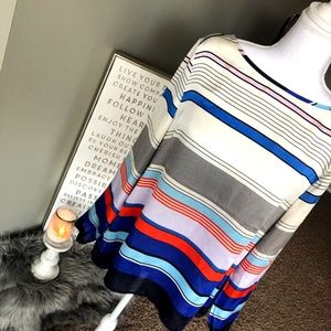 The Limited Striped Long-Sleeve Blouse